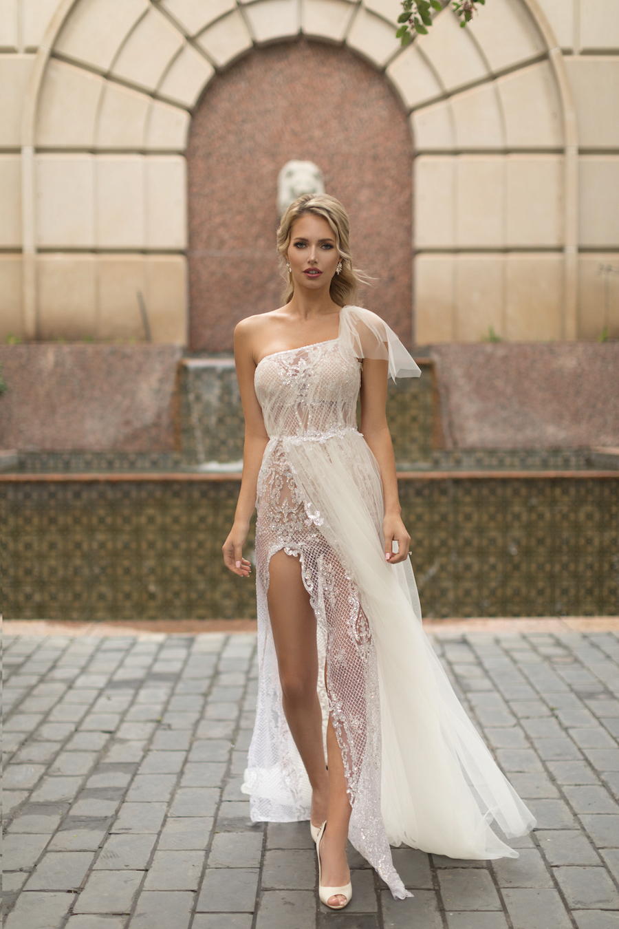 Naama and Anat Haute Couture, Wedding Dress Trends, 2018 Wedding Dress Trends, Naama and Anat Bridal, Couture Wedding Dress, Luxury Wedding Gown, Cha Cha Gown, Dancing up the Aisle