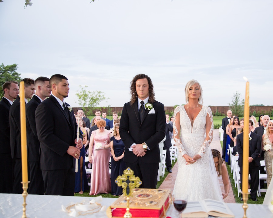 Brittani and Kostas tied the knot at The Springs-Tuscany Hill