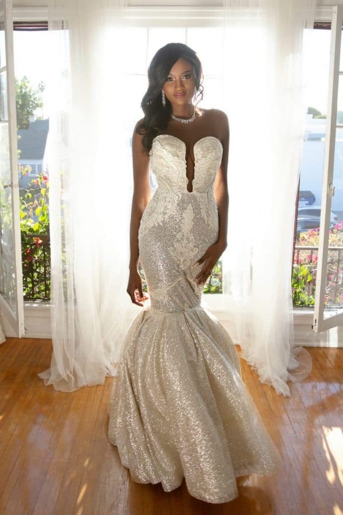 the fierce lady collection, the fierce lady, gowns for women of color, women of color
