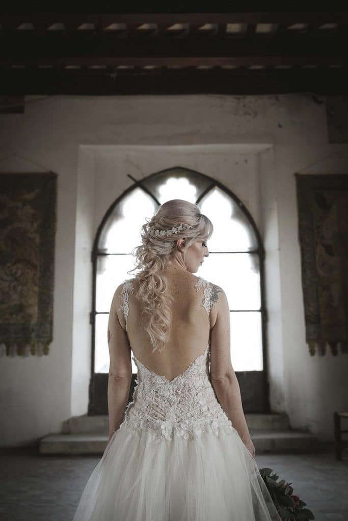 castle wedding, naama and anat haute couture, italy wedding, destination bride, lace wedding gowns, wedding gown, bride